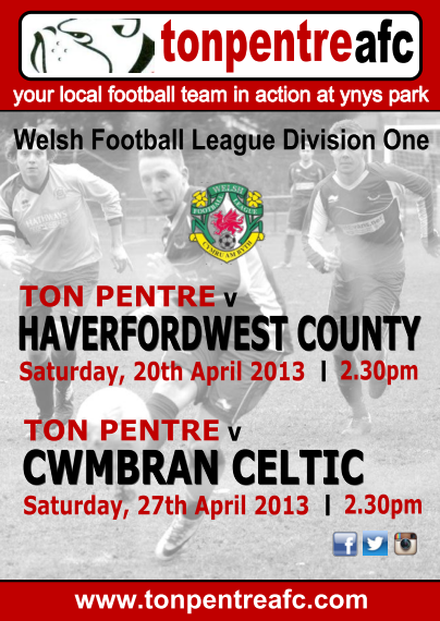 Haverfordwest & Cwmbran Celtic - April