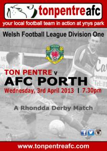Ton Pentre v AFC Porth Poster