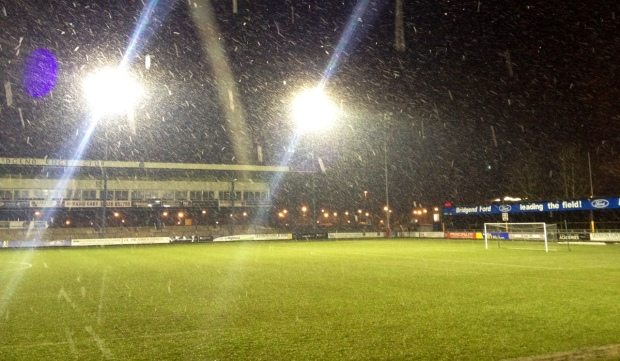 With the snow falling the Brewery Field looked magical.