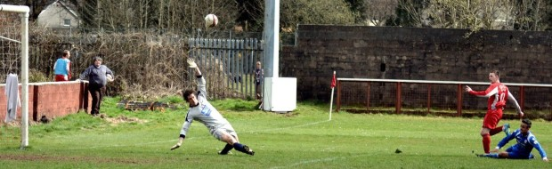 After Haverfordwest took the lead, Wearn had a chance to grab an immediate equaliser.