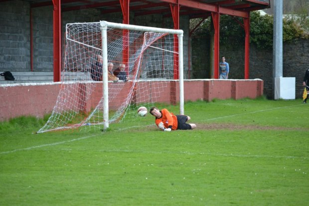 Celtic keeper denies Leahy's penalty with a fine save.