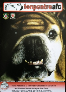 The Ton Pentre AFC Matchday Programme