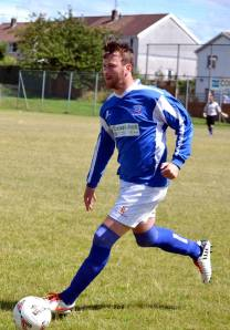 Ross Porter in action during the friendly at Llantwit Fardre.