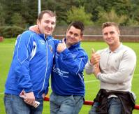 Some of the Fairfield United fans enjoying the biggest day in their club's history.