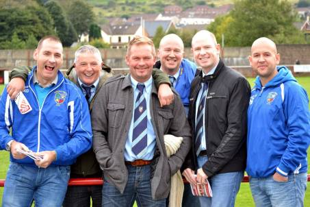 Fairfield United officials had a great day at Ynys Park and were clearly proud of their team's performance.