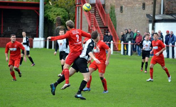 More action from the FAW Welsh Cup Round Two match between Ton Pentre and Sully Sports.