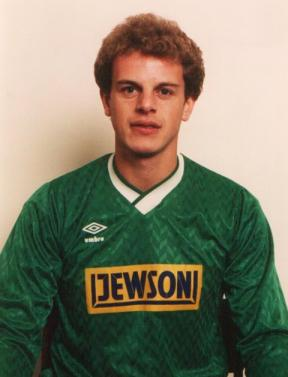 Profile picture of Jimmy Blackie with Barry Town in the 1980s.