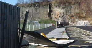 Storm damage has forced Cefn Druids to postpone their home match against Buckley Town today in the Huws Gray Alliance.