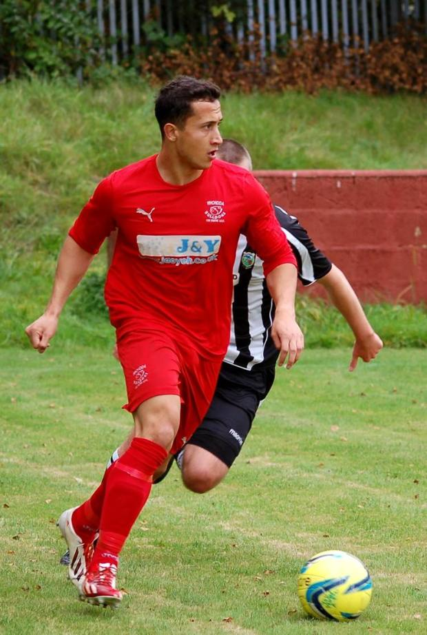 Hydes opened the goalscoring for the Bulldogs, who went on to win 4-1 against Pontardawe Town.