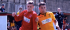 Connor Ray (left) scored a dramatic winner that saw Ton Pentre beat Merthyr Town 3-2 in the Welsh League Youth Cup.