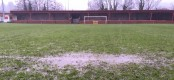 A waterlogged Ynys Park. (Library picture)