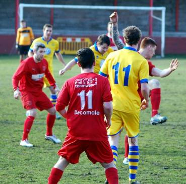 Ton Pentre v Monmouth Town action.