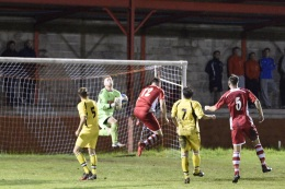 Billing up for the 90th minute header that saw Ton Pentre take 1-0 lead.