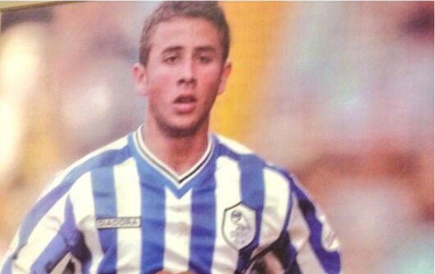 Richard Evans playing for Sheffield Wednesday.