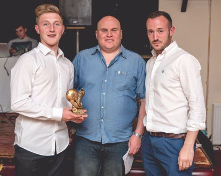 Brandon Coombes received the Youth Team Goal of the Season award on behalf of his brother Jamie.