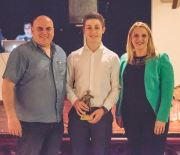 Councillor Shelley Rees-Owen with Youth Team Player's Player of the Year Jac Clements.