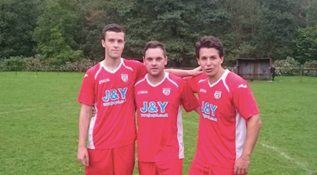 Ton Pentre Reserves goalscorers after the match.